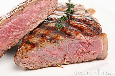 Juicy Rare Sirloin Steak