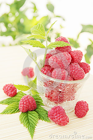 Juicy raspberries
