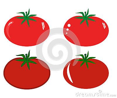 Juicy red tomato.