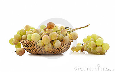 Juicy ripe clusters of grapes