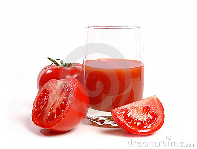 Juicy tomatoes and tomato juice