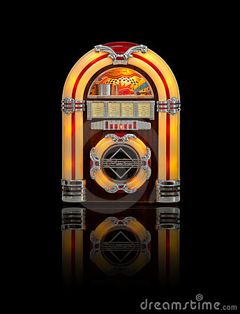 Juke box isolated on black