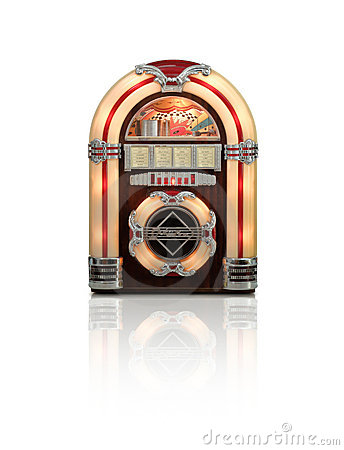 Juke box isolated on white background