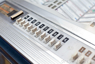 Jukebox buttons with song letters