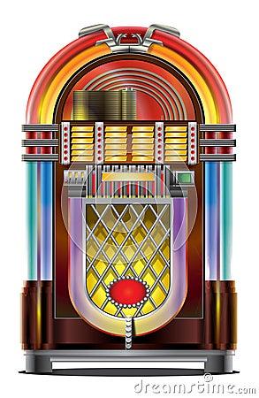 Free Jukebox On White Stock Image - 6998741