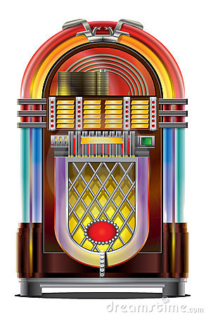 Jukebox On White Stock Image Image 6998741