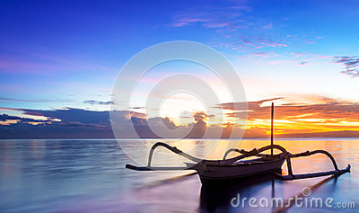 Jukung Traditional Bali Fishing Boat