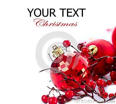 Jul och Baubles för nytt år