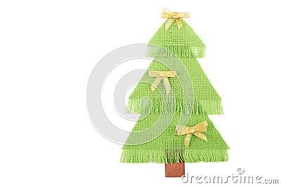 Julgranen gjorde ââof grönt tyg.