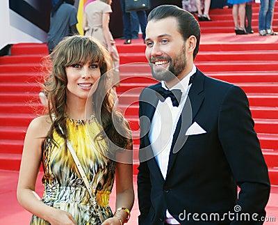 Julia Beretta no festival de cinema de Moscou Imagem de Stock Editorial