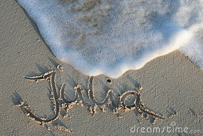 Julia - name in the sand