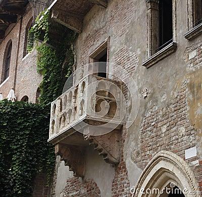 Julia´s Balcony in Verona