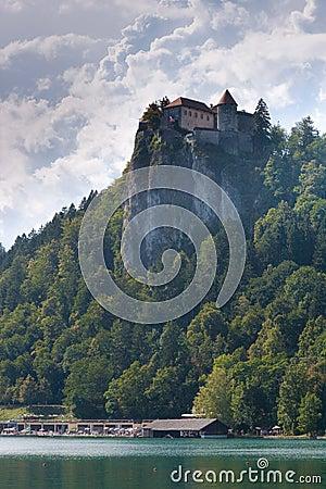 Julian Alps Lake in Bled in Slovenia