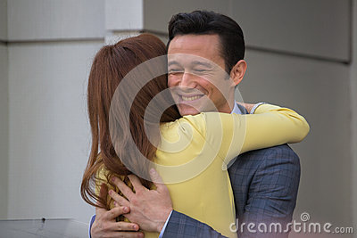 Julianne Moore and John Blake at the Hollywood Walk of Fame Cer Editorial Photography