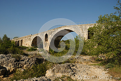 Julien bridge in Bonnieux in Provence