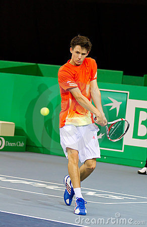 Julien Cagnina at Zurich Open 2012 Editorial Stock Photo