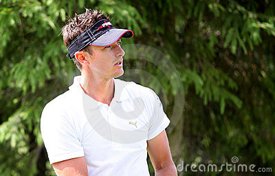Julien Foret at the golf Prevens Trpohee 2009 Editorial Stock Image