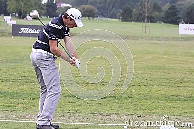 Julien Guerrier, Vivendi golf cup, sept 2010 Editorial Stock Photo