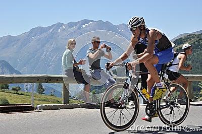 Julien Loy, triathlete. Editorial Stock Photo