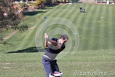 Julien Quesne Andalucia Golf Open, Marbella Editorial Stock Photo