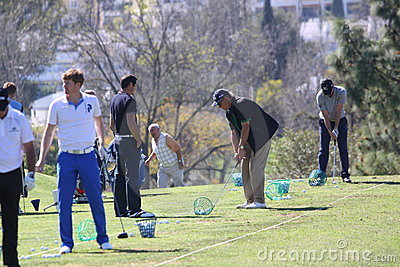 Julien Quesne Andalucia Golf Open, Marbella Editorial Stock Photo