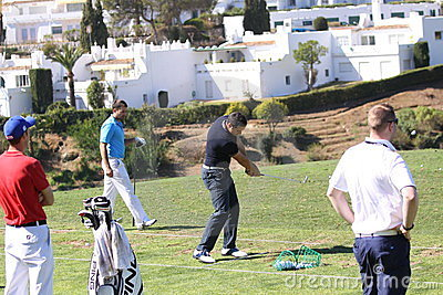 Julien Quesne Andalucia Golf Open, Marbella Editorial Photo