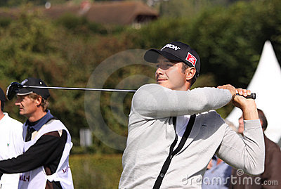 Julien Quesne, Vivendi golf cup, sept 2010 Editorial Stock Image