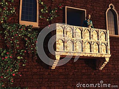 Juliet on her balcony
