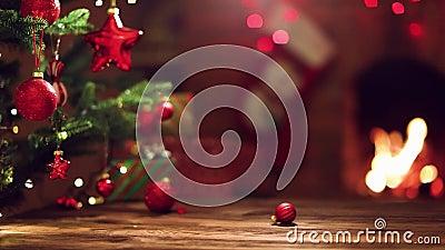 Julträd med dekorationer lager videofilmer