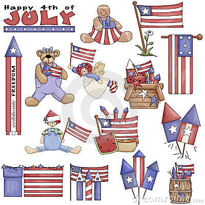 July 4th Americana Clipart