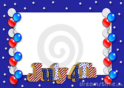 July 4th Border balloons