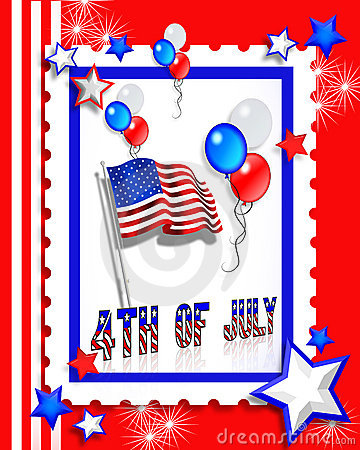 July 4th Party invitation card