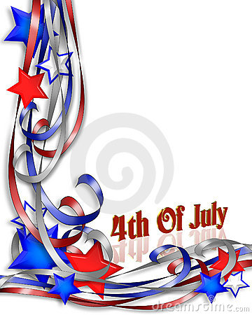 Free July 4th Patriotic Background Border Royalty Free Stock Image - 4210226