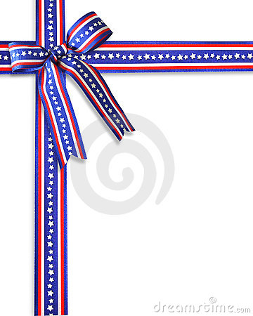July 4th Patriotic Border Ribbons