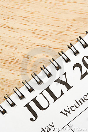 July on calendar.