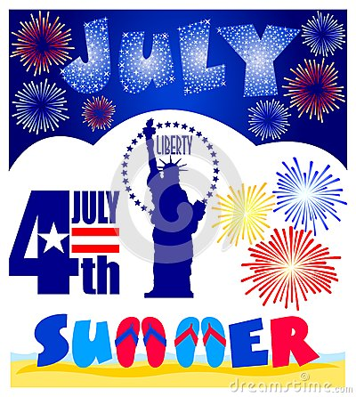 July Events Clip Art Set/eps