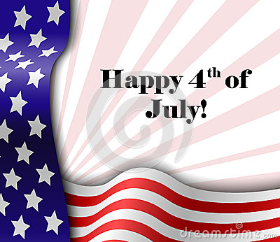 July 4 patriotic text frame