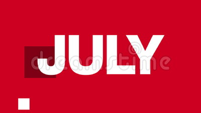 July Text Animation (HD Loop). Animated July text in various fast paced edits. See more variations of this series in my portfolio royalty free illustration
