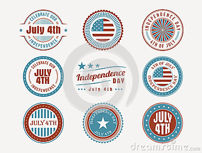 July 4th stamps and seals