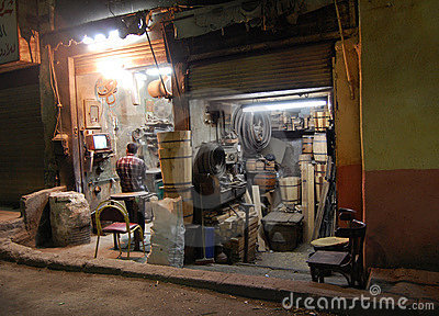 Jumble-shop of millworks in Cairo