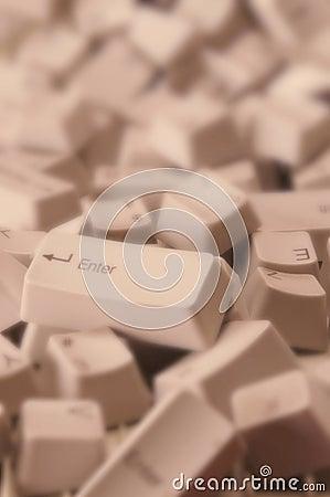 Jumbled Computer Keys