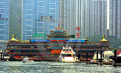Jumbo floating restaurant, hong kong Editorial Photo