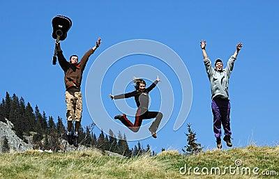 Jump in air