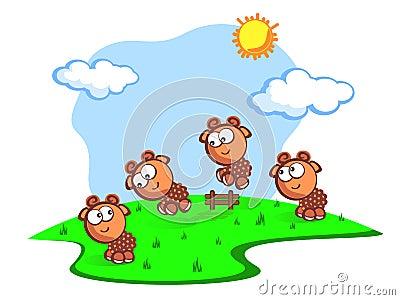 jump baby sheeps