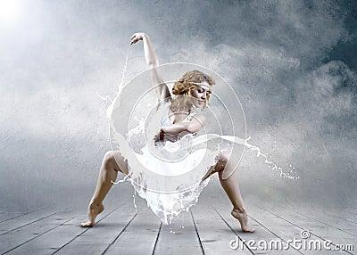 Jump of ballerina