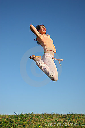 Free Jump Girl Royalty Free Stock Photography - 1030897