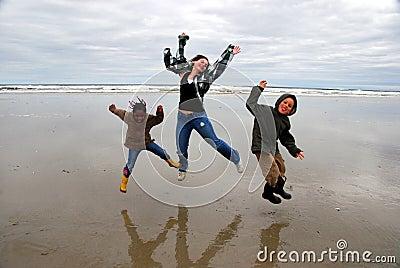 jump for joy royaltyfree stock photography