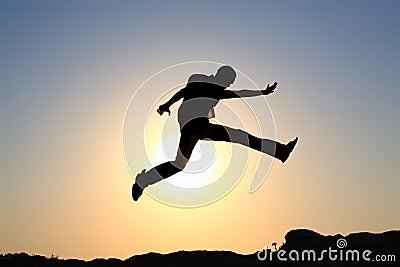 Jump for joy silhouette