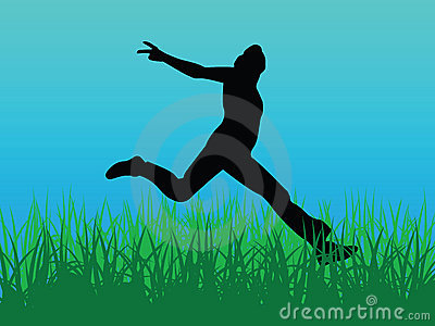 Jump for joy vector