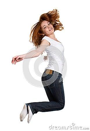 Free Jump Of Joy Royalty Free Stock Photo - 4509945